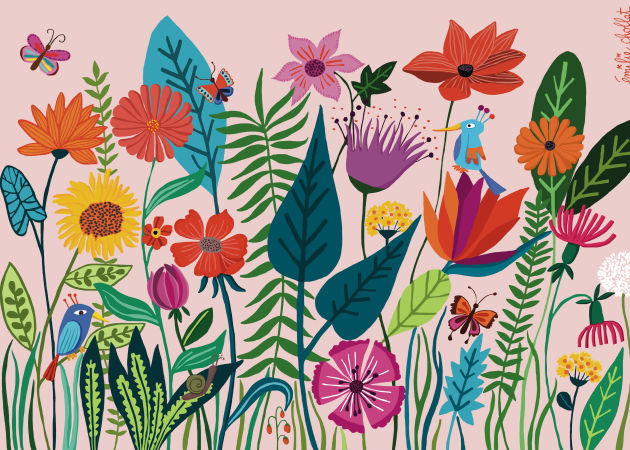 Emilie Chollat-card flowers stationery