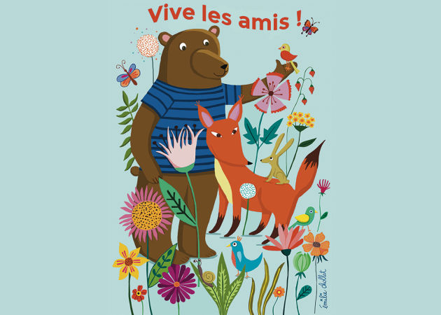 Emilie Chollat - Card Stationery - Friendship