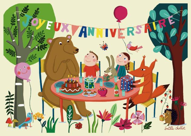 Emilie Chollat birthday card stationery
